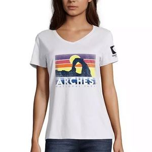 Hanes Women's Graphic Tee Arches National Park Sun